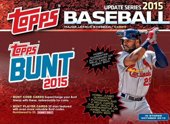 More Topps Bunt News For Upcoming Topps Baseball Products Digital