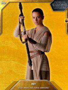 Star Wars Card Trader Rey Gold