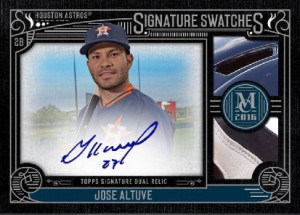 Topps Bunt Museum Collection Jose Altuve