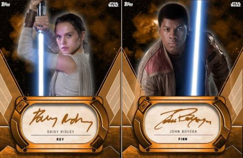 Star Wars Card Trader Rey Signature