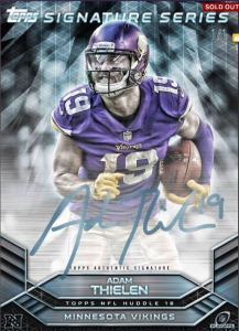 Adam Thielen Topps Huddle Playoff signature