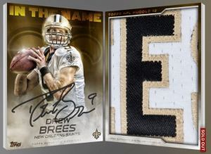 Drew Brees Topps Huddle In the Name