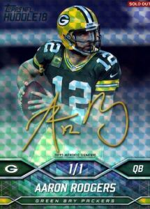 Topps Huddle Aaron Rodgers Superfractor