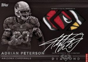 Topps Huddle Adrian Peterson Live Signature Relic
